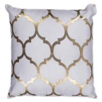 Kas Trellis 18-Inch Square Throw Pillow in Grey/Gold
