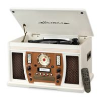 Victrola 7-in-1 Bluetooth® Wooden Music Center in White