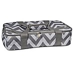 Home Essentials & Beyond Insulated Casserole Carrier in Chevron Grey