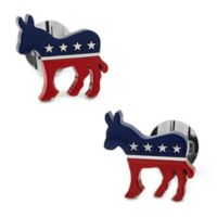 Ox and Bull Stainless Steel Democratic Donkey Cufflinks