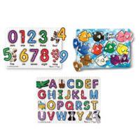 Melissa & Doug® Classic Peg Puzzle Bundle (Set of 3)