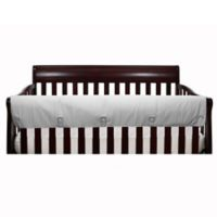 The Peanut Shell® Solid Long Crib Rail Guard in Grey