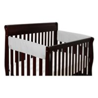 The Peanut Shell® Solid Short Crib Rail Guard in Grey