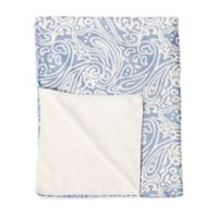 Baby Laundry Minky Swaddler in Blue/White