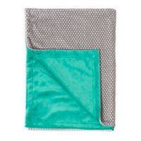 Baby Laundry Dot/Posh Blanket in Seafoam/Grey