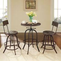 Modway Gather 3-Piece Dining Set in Brown
