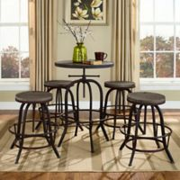 Modway Gather 5-Piece Pub Dining Set in Brown