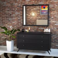 Modway Tracy Dresser and Mirror in Black