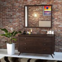 Modway Tracy Dresser and Mirror in Brown