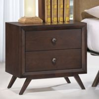 Modway Tracy 2-Drawer Nightstand in Brown