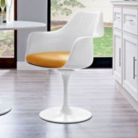 Modway Lippa Dining Fabric Armchair in Yellow