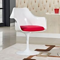 Modway Lippa Dining Fabric Armchair in Red