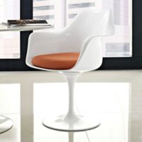 Modway Lippa Dining Fabric Armchair in Orange