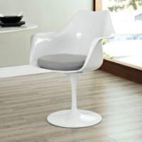 Modway Lippa Dining Fabric Armchair in Grey