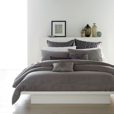dkny sketch fullqueen duvet cover set in charcoal