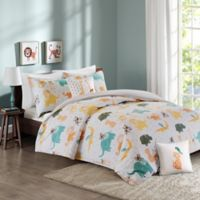 INK+IVY Jacala 4-Piece Twin Mini Comforter Set in Yellow/White