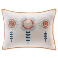 INK+IVY Hana Oblong Throw Pillow in White