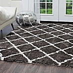 Home Dynamix Oxford 5-Foot 2-Inch x 7-Foot 2-Inch Shag Rug in Dark Grey