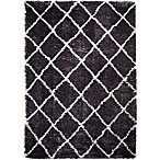 Home Dynamix Oxford 7-Foot 10-Inch x 10-Foot 2-Inch Shag Area Rug in Dark Grey