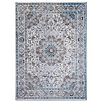 Home Dynamix Denim Traditional Bordered 5-Foot 3-Inch x 7-Foot 2-Inch Area Rug in Blue