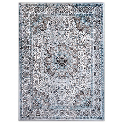 Home Dynamix Denim Traditional Bordered Area Rug Bed
