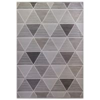 Home Dynamix Killington Triangles 2-Foot 8-Inch x 3-Foot 11-Inch Accent Rug in Grey