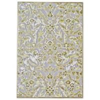 Feizy Marin Damask Area 9-Foot 8-Inch x 12-Foot 7-Inch Indoor/Outdoor Area Rug in Grey/Green