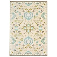 Feizy Marin Traditional 9-Foot 8-Inch x 12-Foot 7-Inch Indoor/Outdoor Area Rug in Cream/Blue