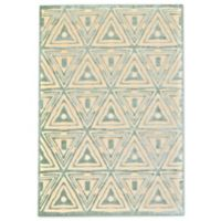 Feizy Marin Triangles 9-Foot 8-Inch x 12-Foot 7-Inch Indoor/Outdoor Area Rug in Cream/Blue