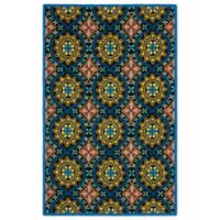 Safavieh Four Seasons Sun Tile 3-Foot 6-Inch x 5-Foot 6-Inch Indoor/Outdoor Area Rug in Black/Blue