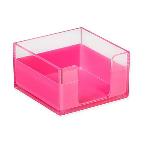 Desk organizer memo tray in pink bed bath beyond - Pink desk organizer ...