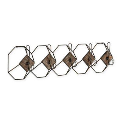 Household Essentials® Geometric Wall Hook Coat Rack In Black