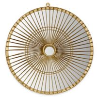 Safavieh Gemini Round Mirror in Gold