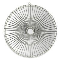 Safavieh Gemini Round Mirror in Silver