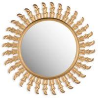 Safavieh Inca Sun Mirror in Gold