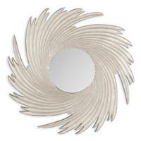 Safavieh Nuveau Wave Mirror in Pewter