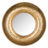 Safavieh Perugia Etruscan Mirror in Gold Foil