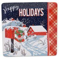 Certified International® Retro Christmas 12-1/2-Inch Square Platter