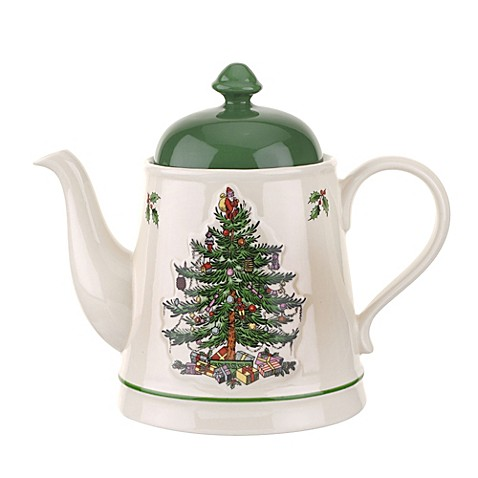 Spode Christmas Tree Embossed Teapot Bed Bath Beyond