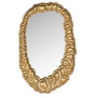 Safavieh Garland Mirror in Antique Gold