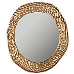 Safavieh Ursula Mirror in Antique Brass