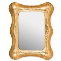 Safavieh Octavia 2 Toned Gold Leaf Mirror in Gold/White