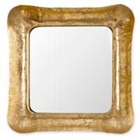 Safavieh Geri Square Iron Mirror in Gold/White