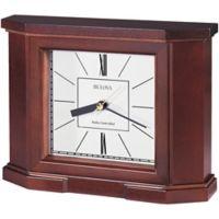 Bulova Altus Radio Controlled Tabletop Clock in Mahogany