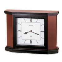 Bulova Holyoke Table Clock in Cherry