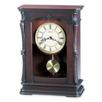 Bulova Abbeville Table Clock in Walnut