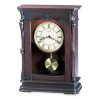 Bulova Abbeville Table Clock in Walnut