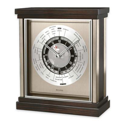 Bulova Wyndmere Table Clock In Ebony