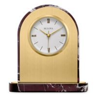 Bulova Desire Table Clock in Brushed Brass