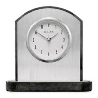 Bulova Mirage Table Clock in Brushed Silver